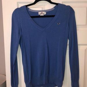 Vineyard Vines Blue V-neck Sweater